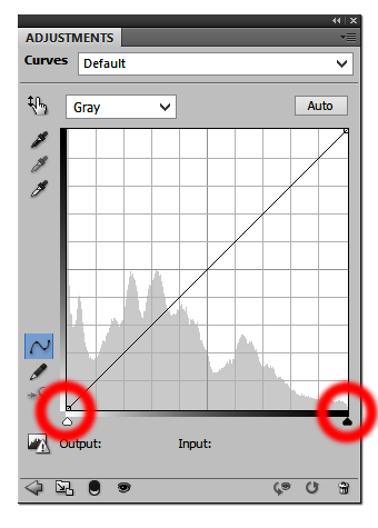 Digital Film Positive Histogram